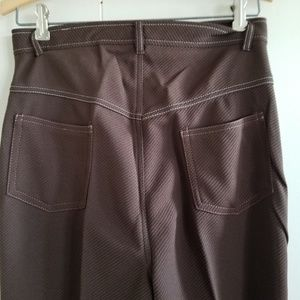 1970s Montgomery Ward Brown Poly Flare Pants